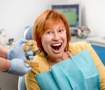 Dentures and implants from Dr. Paul O'Malley in Encino, CA
